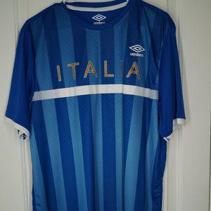 Umbro Italy Soccer Jersey Adult Large White Blue